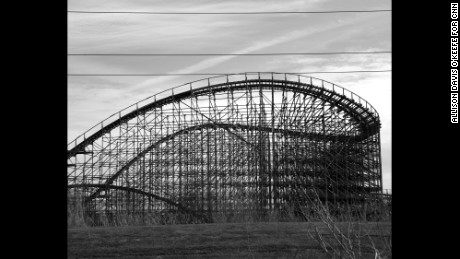 Six Flags theme park in New Orleans, Louisiana was flooded during Hurricane Katrina with water levels reaching as high as fifteen feet. It was never reopened, repaired, or demolished. Photographed on February 21, 2015.