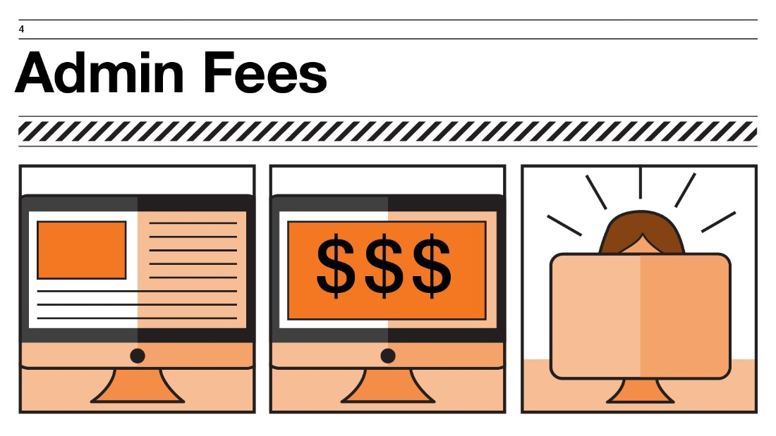What exactly are these mysterious admin fees, which tend to pop up (on top of the advertised base fee) on international flights? Mainly, says Brancantelli, these are fees to pay for an airline's website.