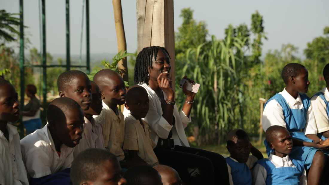"Auma Obama: ""that's what we do at Sauti Kuu we ask the people -- what do you need to improve your lives -- to make your lives livable -- to make your lives such that you don't run away from what you really are -- that you see your potential."""