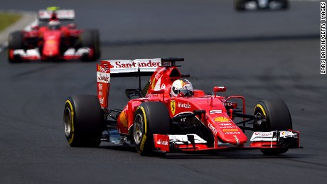 Sebastian Vettel leads the Hungarian Grand Prix on his way to his 41st career win in F1.