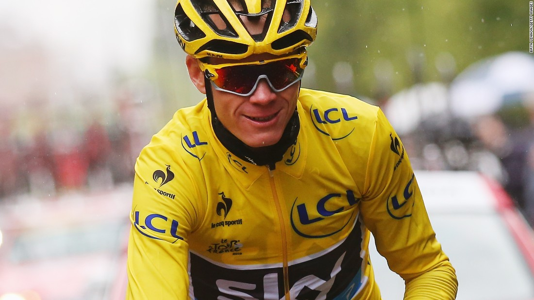 Froome celebrated his Tour de France victory with the traditional glass of champagne.