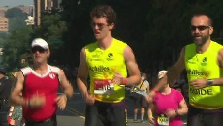 blind athlete trains for new york city triathlon pkg nr_00024603