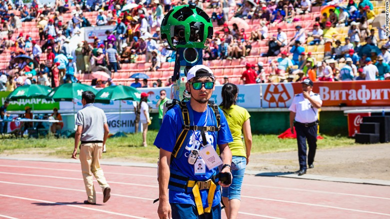 Google Trekker has 15 individual fixed-focused lenses capable of taking 360-degree panoramic shots roughly every three meters.