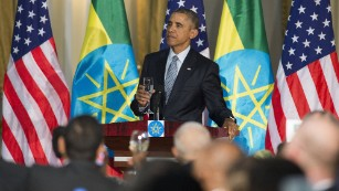 Barack Obama in Addis Ababa, on July 27, 2015.