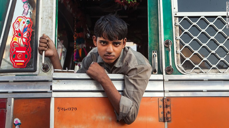"""""""I think there is a big pride connection -- this is the truck driver's world, it's where they're spending all their time,"""" said Eckstein, whose intimate and striking portraits of the drivers captured them in their pride-and-joy."""