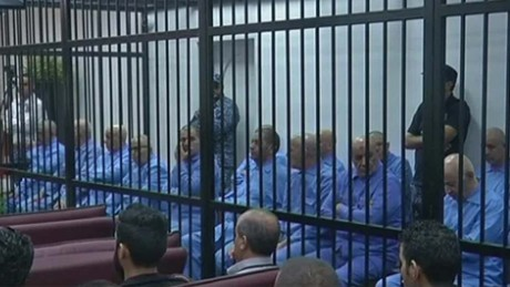 Gadhafi's son, 8 others sentenced to death in Libya