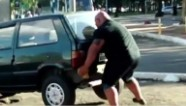 Brazilian 'Hulk' appears to lift car with bare hands