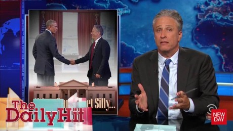 Jon Stewart on meeting with President Obama Daily Hit Newday _00005019
