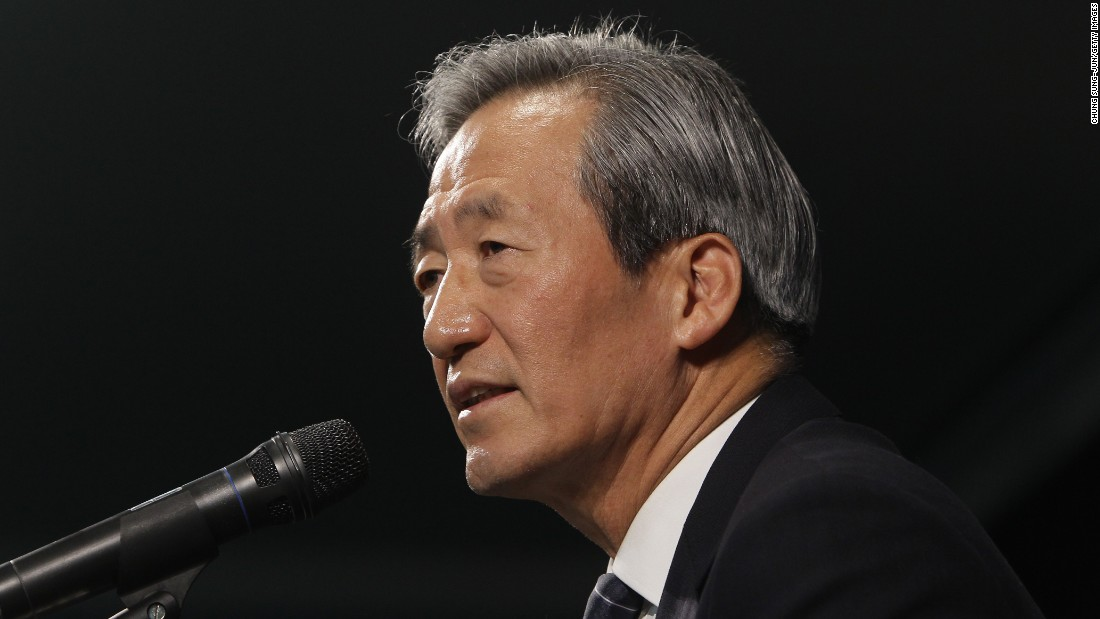 South Korean billionaire and former FIFA vice president, Chung Mong-Joon announces his intention to run for the top job in world soccer.