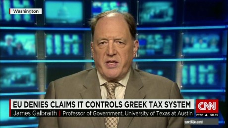 exp James Galbraith, Economist and Professor of Government, University of Texas at Austin , on CNNI. _00002001