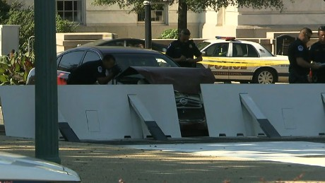 Vehicle crashes barricade U.S. Capitol building