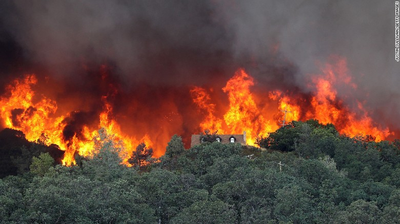 Thousands evacuated as largest of California wildfires spreads