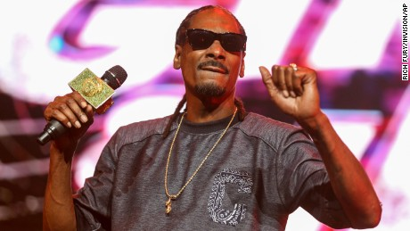 Snoop Dogg performs on June 15, 2015 during the 2015 BET Experience at the Staples Center in Los Angeles. Snoop had $422,000 in cash seized in Italy, authorities say.