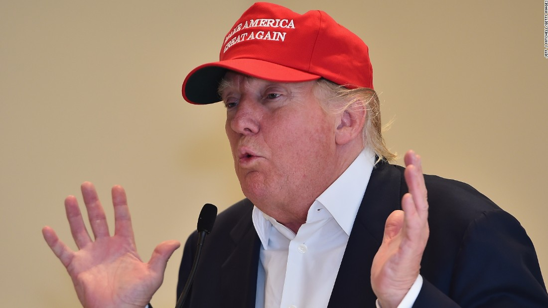 Republican Presidential Candidate Donald Trump visits his Scottish golf course Turnberry on July 30, 2015 in Ayr, Scotland.