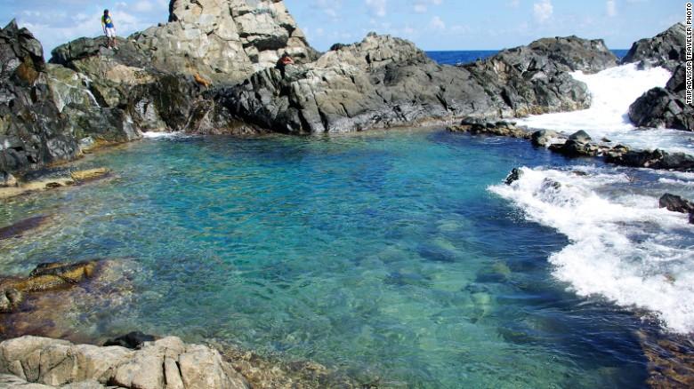 aruba natural swimming spot