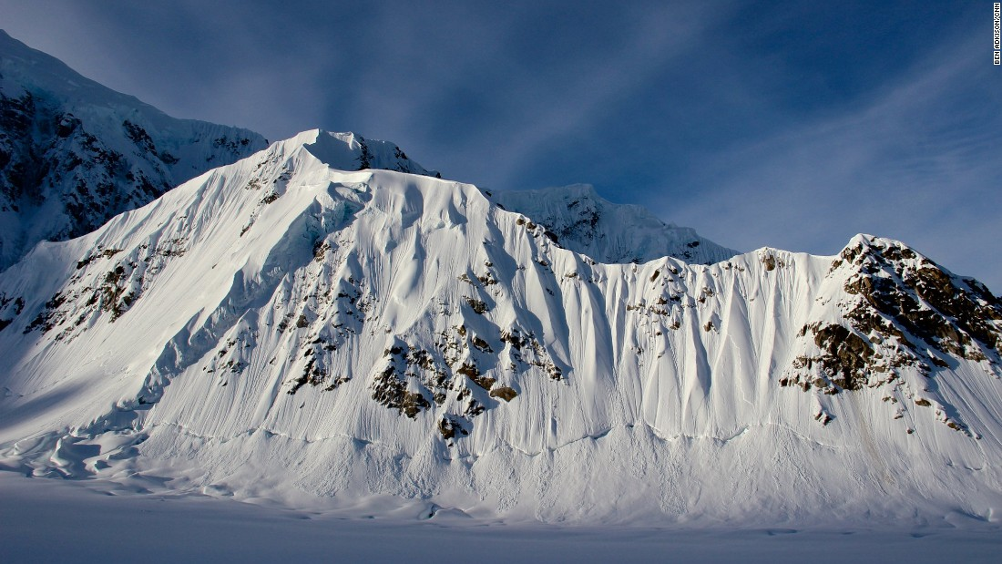 The longest section of the West Buttress route on Denali follows the Kahiltna Glacier and winds through ridges of rock and ice and crevasse fields as it gains elevation.