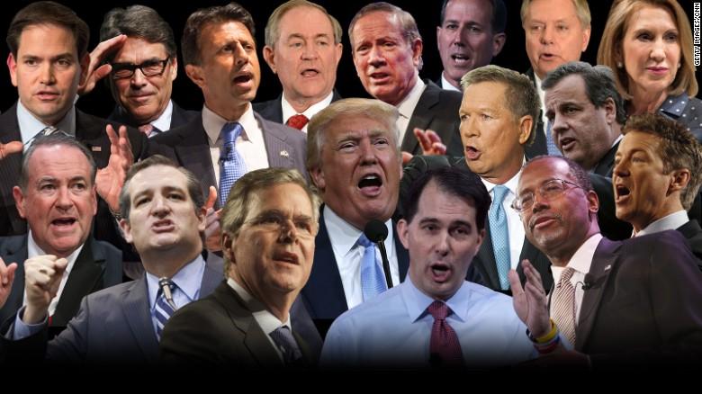 I candidati del GOP.