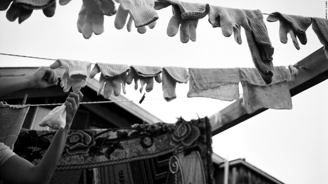 Labor credits are earned doing work that earns income for the community and also for mundane tasks like laundry. Here's a shot of the community clothesline, taken in 2003.