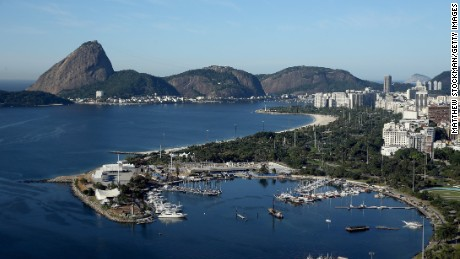 FILE - AUGUST 4, 2015: With one year to go before the start of the 2016 Summer Olympics, host city Rio de Janeiro continues to prepare. RIO DE JANEIRO, BRAZIL - JULY 21: Aerial view of Marina da Gloria, the Sugar Loaf and Guanabara Bay with nearly one year to go to the Rio 2016 Olympic Games on July 21, 2015 in Rio de Janeiro, Brazil. Marina da Gloria will host the sailing competition during the Rio 2016 Olympic Games. (Photo by Matthew Stockman/Getty Images)