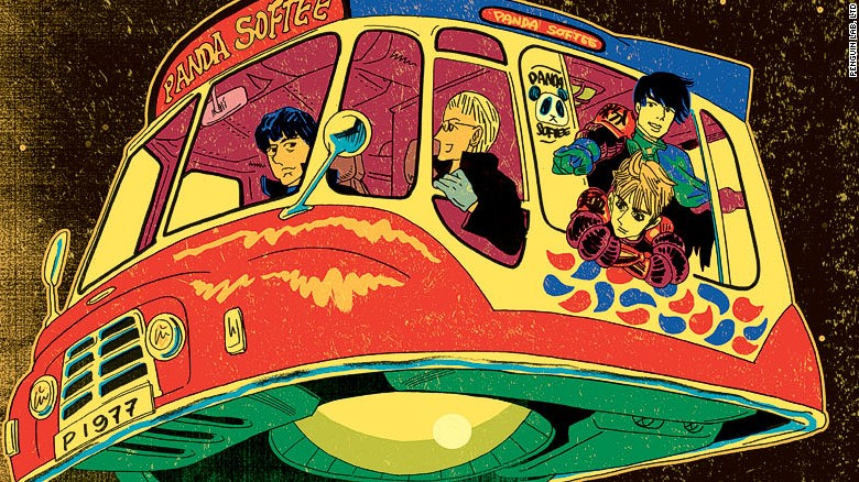 Blur's new ride: a flying ice cream truck
