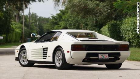 Rear view, 1986 'Miami Vice' Ferrari Testarossa.