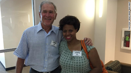 George W Bush shows up for jury duty