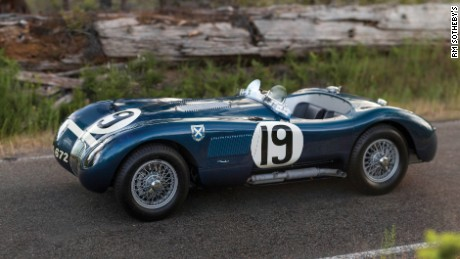 Blue 1953 Jaguar C-Type Works Lightweight. Aluminium body, one of just three built by the factory, finished 4th at Le Mans, 1953.