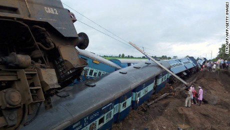 The two trains had over 1,600 passengers on board; at least 27 were killed in the latest deadly accident on India's rail network.
