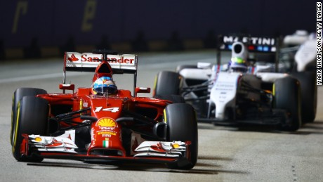 What's more fun than watching a Formula One race? Watching it at night.