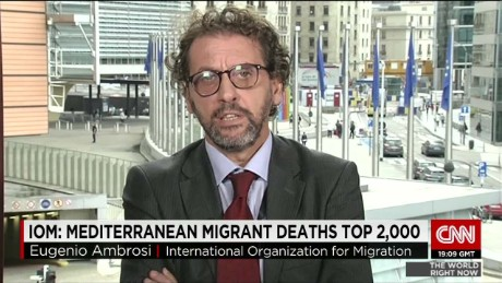 exp Eugenio Ambrosi, International Organization for Migration, talks about the situation in Europe. _00002001