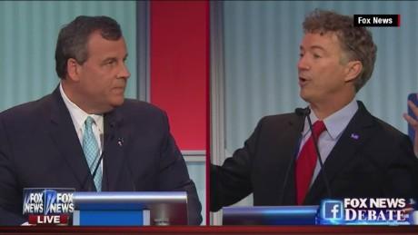 GOP Fox News debate chris christie rand paul nsa question _00011525