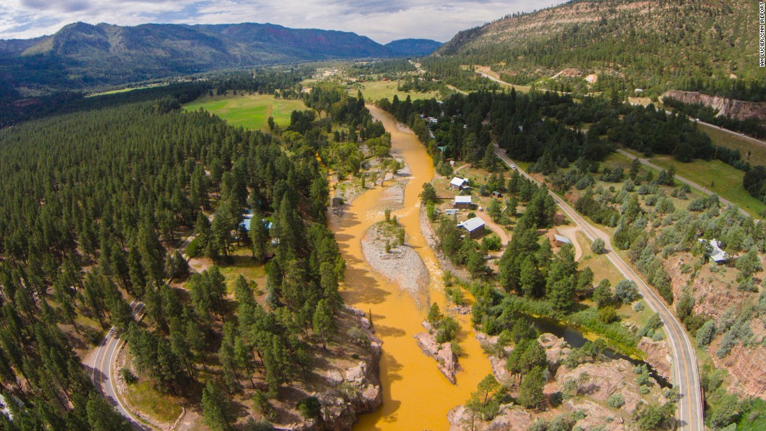 """I got a text from a friend of mine in the morning asking if I had heard about or seen the river. At that point the orange water hadn't reached town so I headed north to see if I could find it,"" Lucier said. ""When I first saw it, I was speechless, [the river] didn't look real."""