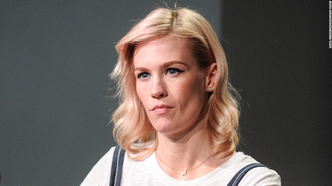 "Actress January Jones played a seriously unhappy woman on ""Mad Men,"" and <a href=""http://jezebel.com/please-leave-january-jones-to-be-a-bitch-in-peace-508885820"" target=""_blank"">some judged</a> her harshly for not banishing that persona off screen. In a New York Times profile, the writer <a href=""http://www.nytimes.com/2013/05/19/fashion/an-interview-with-january-jones-of-mad-men.html?partner=rss&emc=rss&pagewanted=all&_r=2&"" target=""_blank"">felt compelled to note</a>, ""It isn't easy to coax a smile out of January Jones."""
