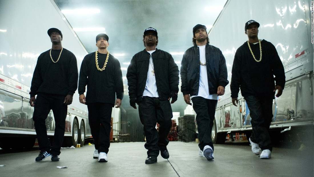 "The controversial rap group N.W.A got their story told in the biopic ""Straight Outta Compton"" which opened on August 14. N.W.A members Dr. Dre and Ice Cube produced the film which stars Ice Cube's son as his dad."