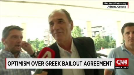 exp David Lea, Senior Analyst Europe, Control Risks, discusses the Greek debt talks on CNNi. _00002001