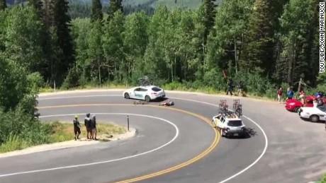 Utah biker crashes into car _00001028