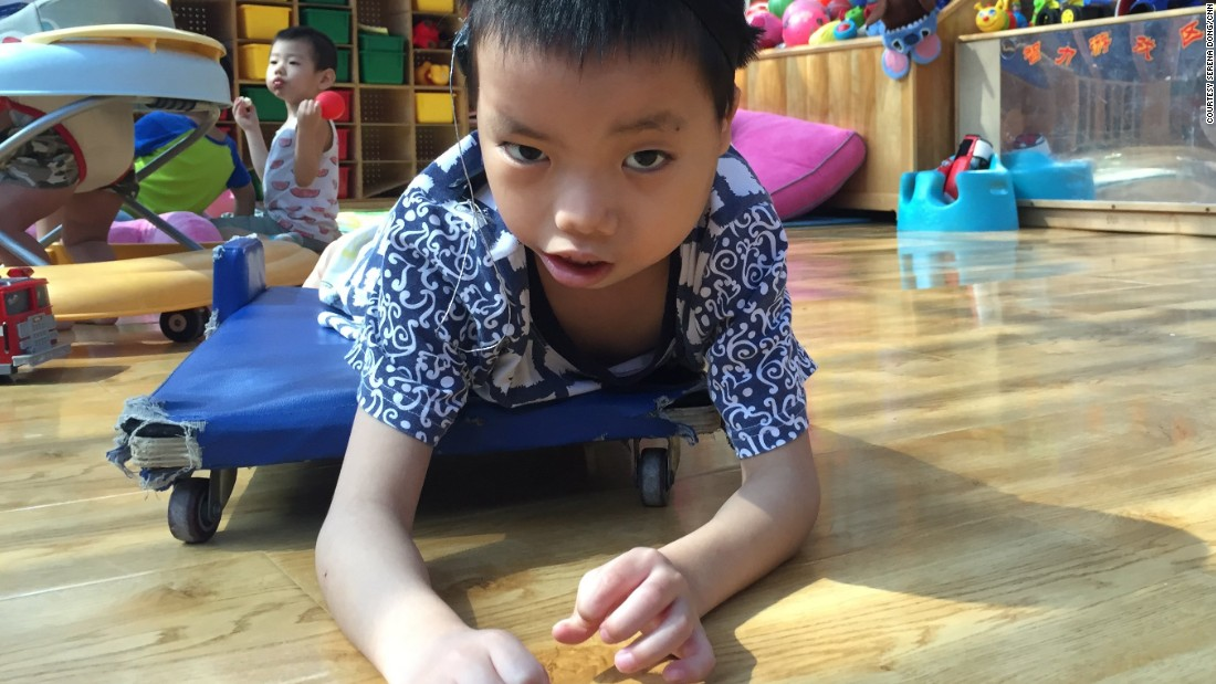 Hai Cong came from China's southern region of Guangxi province. He was born with a mental disability.