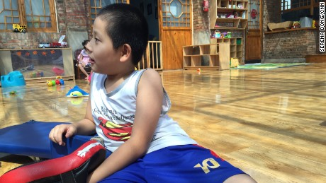 Born in 2006, Jia Jia has been paralyzed from the chest down after a spinal surgery. Jiajia was the oldest of all in this orphanage and enrolled in a primary school now. He has been adopted by an American family and ready to leave when the paperwork is ready.