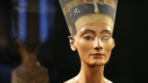 The Nefertiti bust on display in Berlin in 2012.