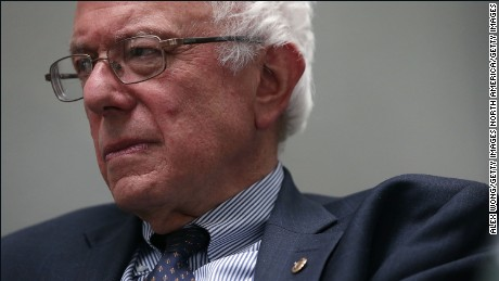 "WASHINGTON, DC - JULY 30: Democratic U.S. presidential hopeful and U.S. Sen. Bernie Sanders (I-VT) listens during a forum July 30, 2015 on Capitol Hill in Washington, DC. Sen. Sanders held the forum to discuss ""The Debt Crisis in Greece and Beyond."" (Photo by Alex Wong/Getty Images)"