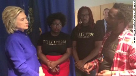 hillary clinton black lives matter protest daunasia yancey intv nr_00003108