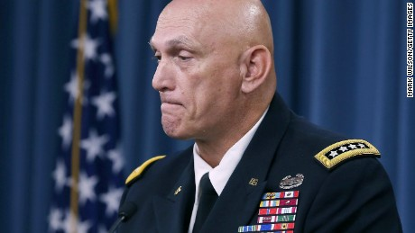 U.S. Army Chief Of Staff Gen. Ray Odierno speaks to the media during last briefing at the Pentagon before he retires, August 12, 2015 in Washington, D.C.