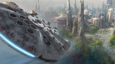 Walt Disney said it would build two new Star Wars theme parks at both Disneyland and Walt Disney World. The announcement was made Saturday, August 15, 2015, at the company's D23 Expo. The themed-land expansion, at 14 acres each, will be Disney's largest ever.