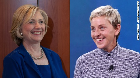 Hillary Clinton (left) and Ellen Degeneres are pictured. | David Greedy, Jesse Grant/Getty