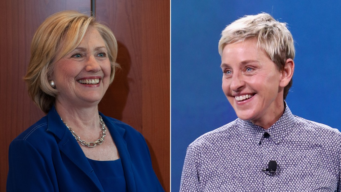 Hillary Clinton (left) and Ellen Degeneres are pictured.   David Greedy, Jesse Grant/Getty