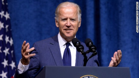 CHATTANOOGA, TN - AUGUST 15:  U.S. Vice President Joe Biden speaks at a memorial service to honor those killed In Chattanooga shooting at University of Tennessee at Chattanooga's McKenzie Arena on August 15, 2015 in Chattanooga, Tennessee.  The military is putting on the ceremony to honor the sailor and four Marines killed and to say thank you to the men and women who helped responded when Mohammad Abdulazeez shot up a military recruitment center and a Navy operations support center before being killed by law enforcement, (Photo by Jason Davis/Getty Images)