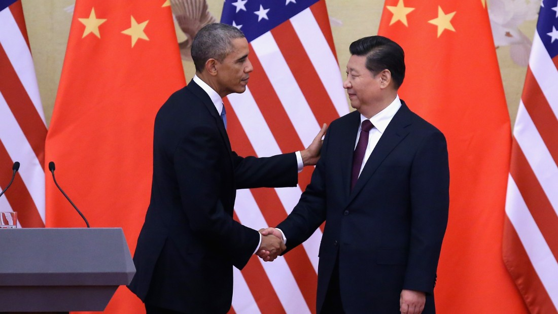 BEIJING, CHINA - NOVEMBER 12:  U.S. President Barack Obama (L) shakes hands with Chinese President Xi Jinping (R) after a joint press conference at the Great Hall of People on November 12, 2014 in Beijing, China. U.S. President Barack Obama pays a state visit to China after attending the 22nd Asia-Pacific Economic Cooperation (APEC) Economic Leaders' Meeting.