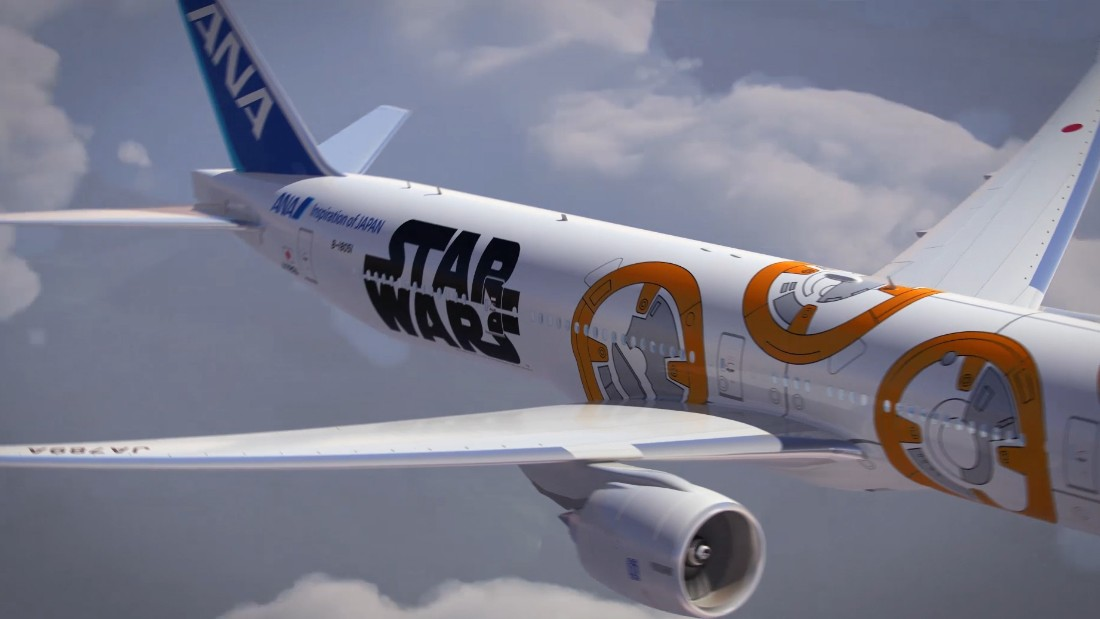 "The planes also will offer all six ""Star Wars"" films as part of its in-flight entertainment on international routes, the first time any ""Star Wars"" film has been part of in-flight entertainment."