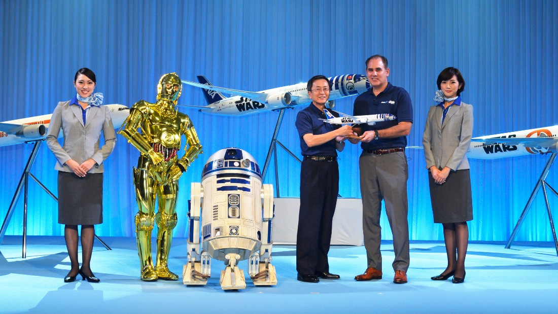 "The ANA ""Star Wars"" Project was announced in April, a partnership between the airline and Walt Disney. ANA was the launch customer for the 787, which entered service in 2011."