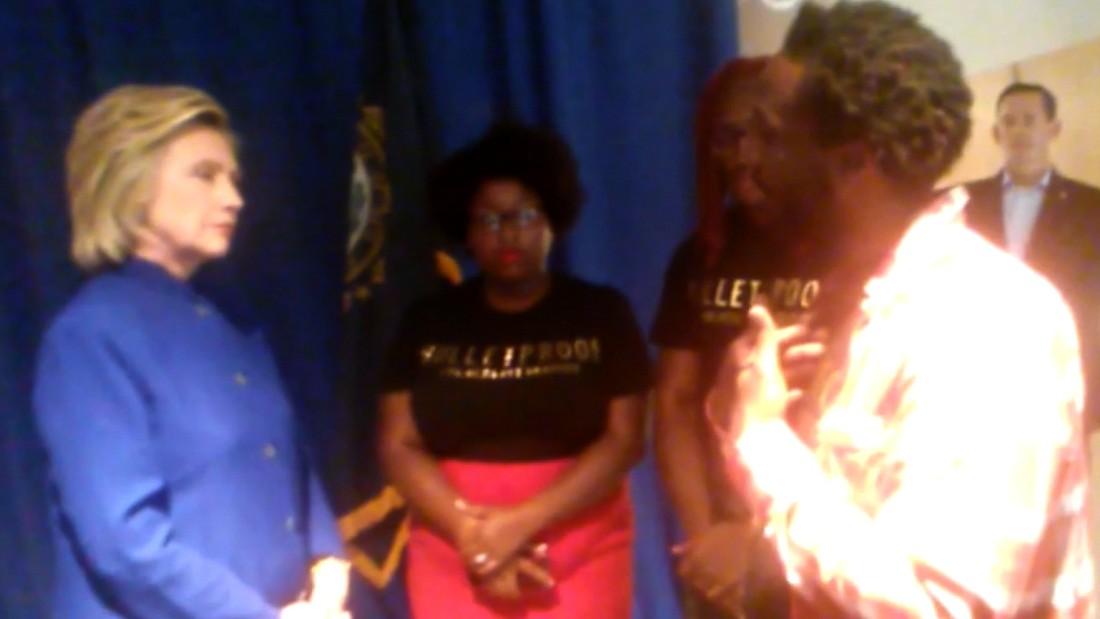 Hillary Clinton Speaks To Black Lives Matter Activists